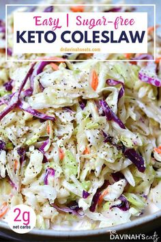 Coleslaw is one of those foods that you wouldn't suspect to have added sugars…. Coleslaw is one of those foods that you wouldn't suspect to have added sugars. At face value, you might think most coleslaw is keto friendly because… Continue Reading → Low Carb Side Dishes, Side Dish Recipes, Ketogenic Recipes, Diet Recipes, Salad Recipes, Ketogenic Diet, Smoothie Recipes, Smoothie Diet, Recipes Dinner