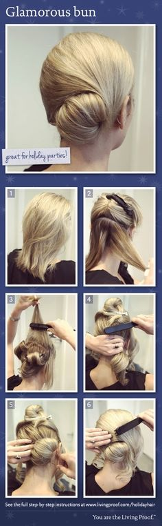 Glam bun...oh I wanna try to do this! :)