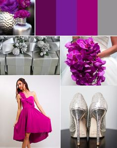 Magenta + Silver Wedding Palette