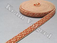 Long tablet woven trim historic Birka pattern - tablet weaving, card weaving, wool, reenactment, viking age, historic outfit, sca, larp