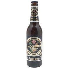 Cerveja Jacobinus Dunkles Weizen, estilo German Dunkelweizen, produzida por Eschweger Klosterbrauerei, Alemanha. 5.7% ABV de álcool.