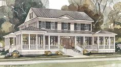 Carolina Island House from Coastal Living. LOVE the wrap around front porch. Used to be called Sea Island Cottage from Southern Living.