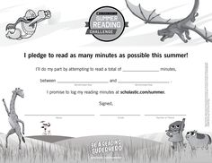 Want kids to commit to reading this summer? Have them sign a summer reading pledge! Click through to learn more about the Scholastic Summer Reading Challenge. #summerreading