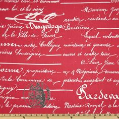 french script fabric by the yard  Wide Premier Prints Penmanship Twill Sherbet Italian Script Fabric writing Timeless