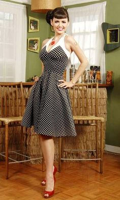 50's pin-up dress inly to be worn with red shoes!