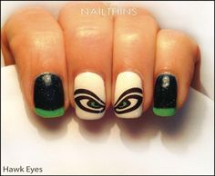 Make sure you got the nails to match that pride! Seattle Seahawks