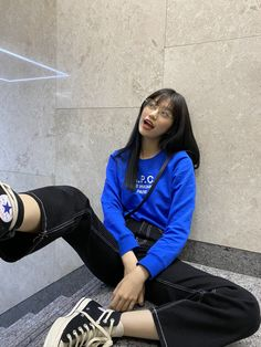 Kpop Outfits, Korean Outfits, Girl Outfits, Blackpink Fashion, Korean Fashion, Fashion Outfits, Ulzzang Korean Girl, Cute Korean Girl, Moda Kpop