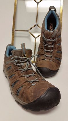 16cfae8915ad L  K KEEN Men Targhee II Waterproof Hiking Shoes in Brown Blue. Size  11(TS-52)  KEEN  AnkleBoots