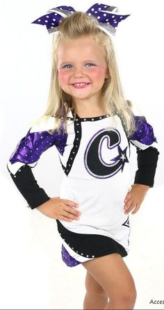 Bow is Wide with Long Tails attached to a Ponytail Holder Elastic. Big Cheer Bows, Cheer Hair Bows, Competitive Dance, Ponytail Holders, Cheetah Print, Cheerleading, Ribbon, Purple, Silver
