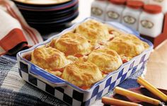 Creamed Chicken & Biscuits ~ the URL associated with this recipe seems to be no longer available.   http://www.grandmaskitchen.com/recipes/poultry-classics/creamed-chicken-biscuits  Therefore I searched for it and came up with this one from Food.com that shows it's from grandma's kitchen. Please advise if you have the correction. Thanks