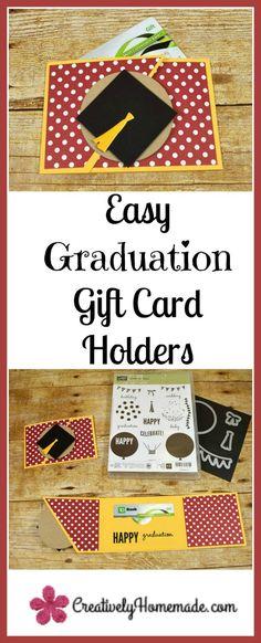 Graduation gift card holder | DIY graduation gifts | handmade gift card envelopes | gift card holders to make