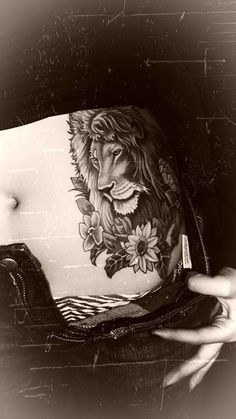 My Lion Tattoo. (It is in color) -Yarely