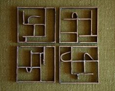 Could be trivets. But I like them as wall sculpture.