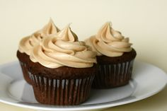 Cupcake Diaries: Chocolate Cupcakes with Peanut Butter Frosting