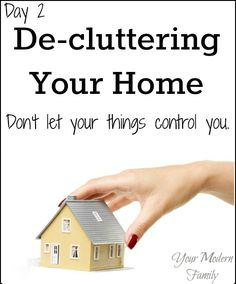 day 2 of help declutter my home. How to take action!