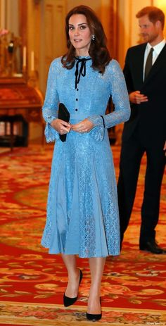 Kate, first outing since her pregnancy was announced at the mental health reception at Buckingham Palace
