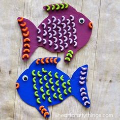 pasta fish craft - ocean kid craft - crafts for kids- kid crafts - acraftylife.com #preschool