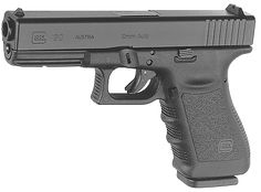 """The""""Pitbull of GLOCKS.""""Magnum force with the concealability of a compact. Ideal as a backup hunting gun. This perfect 10 provides perfect protection from two and four legged predators."""