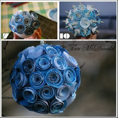 ~* Sparkling Scrapbooks *~: ~* rOlLeD fLoWeR oRnAmEnT tutorial *~ by Tina McDonald