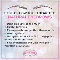 Fancy a pair of naturally beautiful brows? These tips can make you covered!  Contact us at:  🏠104 Jurong East St.13 #01-102 ☎ 65673568  🏠Marine Parade Central ☎ 98593982  🏠Orchard Gateway #B2-01 ☎ 67023062  Follow us at IG: https://www.instagram.com/thebeautyrecipe