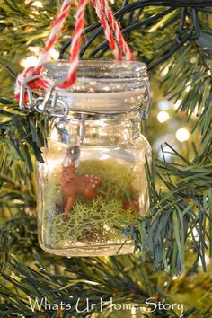 This whimsical terrarium ornament is as easy as it gets with Christmas decorating! Took me 3 minutes to make!