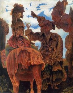 Max Ernst - The Painter's Daughters, 1940 Max Ernst Paintings, Vienna School Of Fantastic Realism, Dada Movement, Francis Picabia, Esoteric Art, Collages, Rene Magritte, Surrealism Painting, Fantastic Art