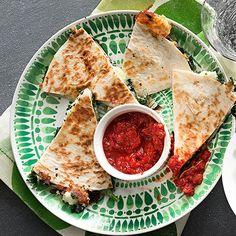 Spinach & Feta Quesadillas