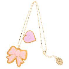 リボン&ハートシュガークッキー ネックレス found on Polyvore featuring women's fashion, jewelry and necklaces