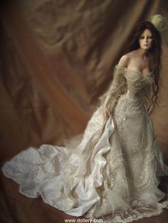 Tom Francirek Collectible Dolls - I don't like dolls much but I LOVE this dress!