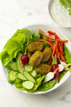 Falafels, Meatless Monday, Spinach, Vegetarian Recipes, Good Food, Lunch, Vegetables, Cooking, Mondays