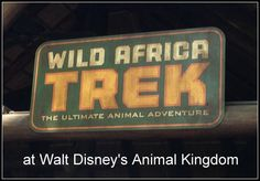 WILD AFRICA TREK These words do not sound like it should be coming from the fantasy worlds that live within Walt Disney World but that could not be further