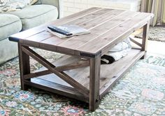 CUSTOM BUILT/ PAINTED Rustic Farmhouse Coffee Table by ForgetMeNotsCottage, $495