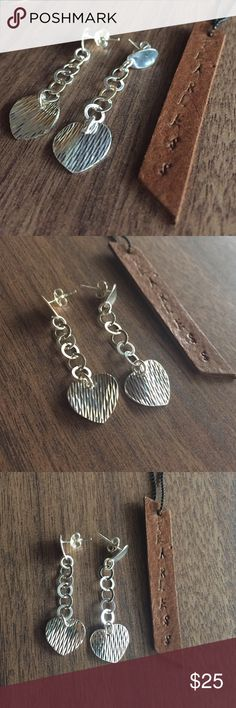 Sterling silver earrings 925 Dangles 💍Solid Sterling silver 925, shop with confidence🎊🎉 Jewelry Earrings