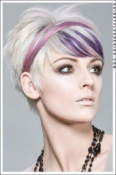 blonde pixie cut with colour - Buscar con Google