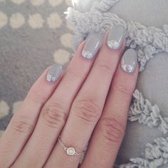Beautiful nails with a hint of sparkle from @Carly Cristman