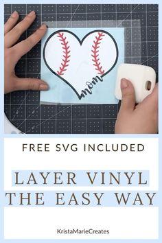 How to Layer Vinyl | Cricut Explore Tutorial | Wax Paper | BEGINNER - YouTube