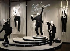mannequins in movements.