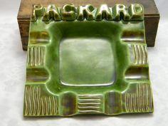 Vintage Packard Ceramic Ashtray Stockdale dealership Colorado Springs by NicksonGarageFinds on Etsy