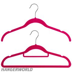 Wardrobe Set of 20 Pink Flocked Velvet Hangers - 42cm