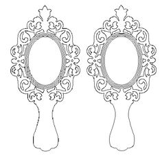 Mirror Vector, Moldes Para Baby Shower, Custom Leather Belts, Snow White Birthday, Beauty And The Beast Party, Disney Princess Birthday, Scroll Saw Patterns, Unicorn Party, Cnc Router