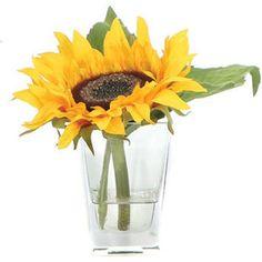 Lux Art Silks Faux Single Sunflower