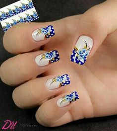 Perfect Colorful Floral Nail Design – 17 It's your turn to have great nails! Check out this year's most … Cute Spring Nails, Summer Nails, Great Nails, Perfect Nails, Fancy Nails, Bling Nails, Flower Nails, Beautiful Nail Art, Beauty Nails