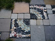 Day 182/366: River Rock Mosaic by Rozanne, via Flickr