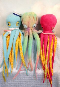 Customize Your Plush Octopus Now with FREE LOVE red by deelind,