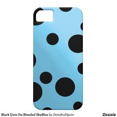Black Dots On Blended SkyBlue iPhone 5 Cover