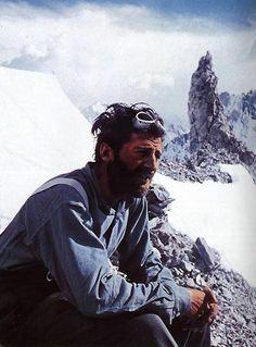 satanaetita:    Hermann Buhl during the descent after summiting Broad Peak