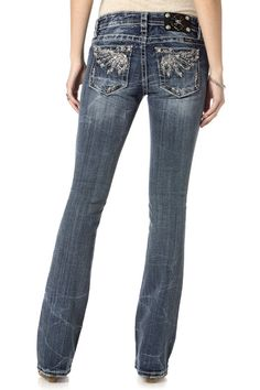 "Check out ""Angel No More Mid-Rise Boot Cut Jeans"" from Miss Me"