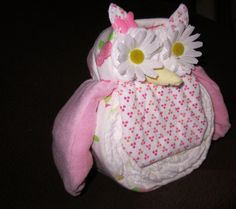 Diaper Owl Boy/Girl Diaper Animals (about 10 inches tall) Baby Shower Decoration, Mom to Be Gift, Nursery Decoration. $30.50, via Etsy.