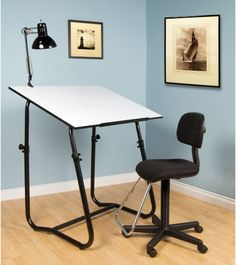 Studio Designs 3 Piece Tech Workstation - Set includes drawing table, chair,lamp and art tray What We Like About the 3-piece Work Station Create a solid and stable work station...