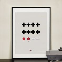 Konami Code poster by Design Different.